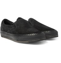 Hender Scheme Mip 17 Suede Trimmed Nubuck Slip On Sneakers Black