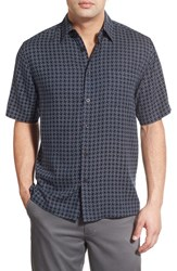 Men's Toscano 'Dot Print' Regular Fit Silk Blend Sport Shirt