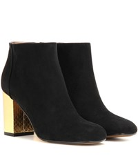 Marni Suede And Leather Ankle Boots Black