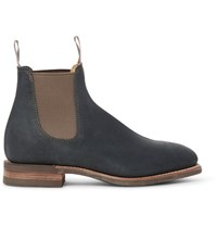 R.M.Williams Comfort Craftsman Suede Chelsea Boots Forest Green