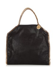 Stella Mccartney Falabella Faux Suede Shoulder Bag Black