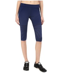 Adidas By Stella Mccartney Studio Zebra 3 4 Tights Ao3801 Dark Blue Women's Casual Pants