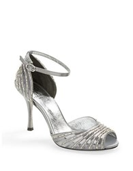Adrianna Papell Foley Sequin And Beaded Heels Silver
