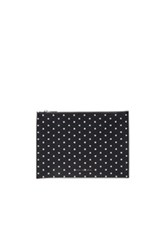 Victoria Beckham Printed Pvc Large Simple Pouch In Blue