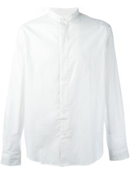 Paul Smith Ps By Band Collar Shirt White