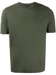 Dell'oglio Plain Crew Neck T Shirt Green