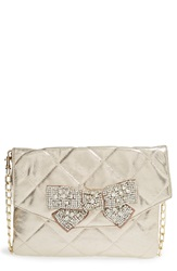 Deux Lux 'Forever' Quilted Bow Clutch Gold