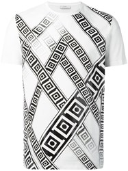 Versace Collection Frame Print T Shirt White