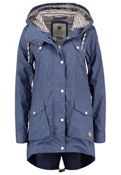 Ragwear Clancy Parka Blue Melange Mottled Blue