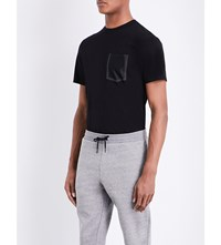 Sandro Mesh Pocket Cotton Jersey T Shirt Black