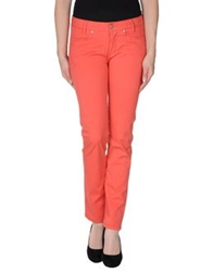 Jaggy Casual Pants Coral