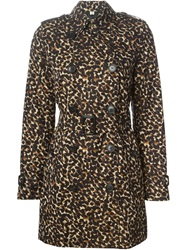 Burberry London Leopard Trench Coat Brown