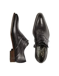 Forzieri Black Italian Handcrafted Leather Oxford Dress Shoes
