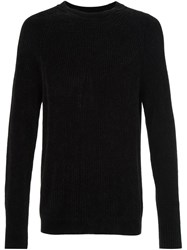 Maison Martin Margiela Ribbed Long Sleeve Sweater Black