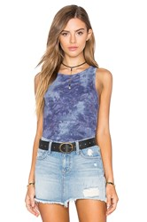 Feel The Piece Aria Crew Neck Tank Blue
