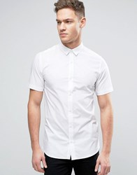 Only And Sons Skinny Short Sleeve Smart Shirt White