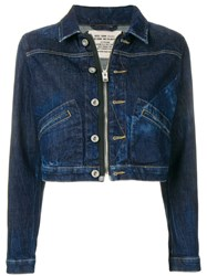 Diesel Cropped Denim Jacket Blue