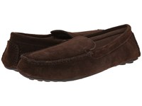 L.B. Evans Darren Chocolate Suede W Terry Slippers Brown