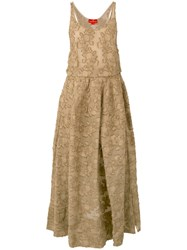 Vivienne Westwood Sleeveless Jacquard Dress Women Cotton Polyamide 44 Brown