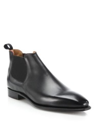 Corthay Bella Low Rise Leather Chelsea Boots Black