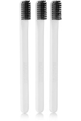Marvis Set Of Three Toothbrushes White