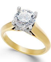 X3 Certified Diamond Solitaire Engagement Ring In Titanium 2 Ct. T.W.