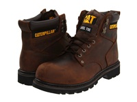 Caterpillar 2Nd Shift Steel Toe Dark Brown Leather Men's Work Boots