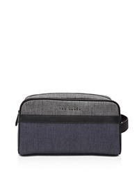 Ted Baker Toiletry Bag And Towel Gift Set Charcoal