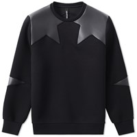 Neil Barrett Irregular Star Sweat Black