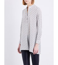 Joseph New Dara Bird Print Crepe De Chine Blouse 021Off White