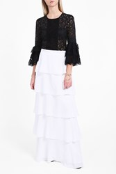 Andrew Gn Women S Tiered Long Skirt Boutique1 White