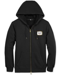 Volcom Men's Zip Up Hoodie With Fleeca Lining Black