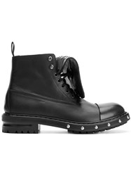 Alexander Mcqueen Studded Military Boots Black