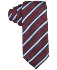 Tasso Elba Men's Knit Striped Classic Tie Only At Macy's Wine