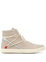 Rick Owens Geotrasher High Top Sneakers Neutrals