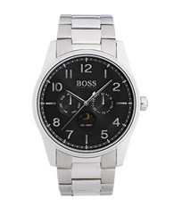 Hugo Boss Heritage Silvertone Metal And Tri Link Bracelet Watch