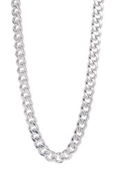 Cole Haan Dainty Curb Chain Logo Toggle Necklace Metallic