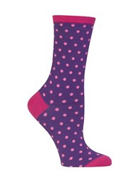 Hot Sox Holiday Polka Dot Socks Purple