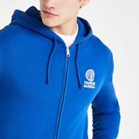River Island Franklin And Marshall Blue Zip Hoodie