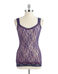 Dkny Patterned Lace Camisole Navy Stripe