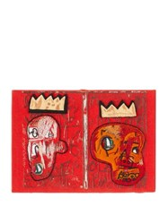 Olympia Le Tan Basquiat 'Red Kings' Embroidered Book Clutch Red Multi