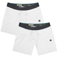 Stance Staple 6 Inch Boxer Brief 2 Pack White