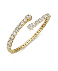 Joan Boyce Crystal Flex Bangle Bracelet Gold