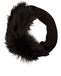 Lanvin Women's Fur And Knit Stole Black