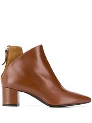 Albano Contrasting Panel Ankle Boots 60