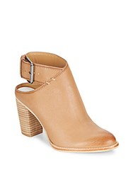 Dolce Vita Jacklyn Leather Cutout Ankle Boots Camel