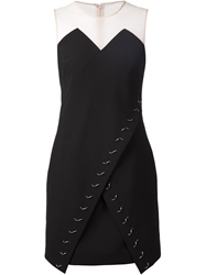 Marios Schwab Embellished Wrap Front Dress