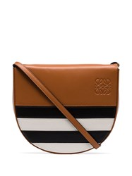 Loewe Heel Marine Cross Body Bag Brown Black White