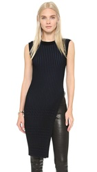 Opening Ceremony Chain Stripe Sleeveless Tunic Black Multi