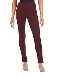 J Brand Maria Cuffed Skinny Jeans Deep Mulberry